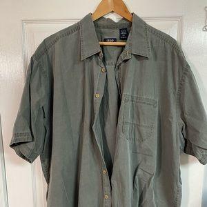 Izod Olive Green Dress Shirt